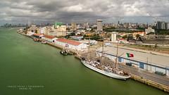Navio Escola Sagres - Marinha Portuguesa. (Thales Paiva) Tags: terminal martimo de passageiros do porto recife navio escola sagres marinha portuguesa areo drone dronepe