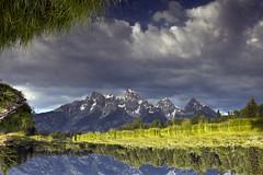 Reflected Tetons - Schwabacher's Landing (nicoangleys) Tags: tetons grandtetonsnp nationalpark wyoming jacksonhole schwabacherslanding