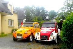 "Deux CITROEN 2CV ""Raid des Baroudeurs"" (xavnco2) Tags: classic cars car french automobile citron 2cv autos raid"