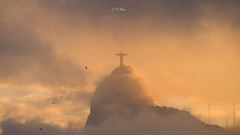 Redeemer Sunset (Jos Eduardo Nucci) Tags: sunset christ riodejaneiro brasil sumar landmark joseduardonucci d800 28300mm sunlight love water sky winter season southamerica cloudscape colors fog redeemer corcovado explore environment enseadadebotafogo urca discover travel photography mountains rio2016 nature paisagem natureza classic icon architecture blessed god golden yellow red orange blue rio cidademaravilhosa wonderfulcity sea cosmopolitan flamengo beach praia sand friends people citizens world planet time life favorite like outdoor landscape fascinating seasons botafogo cosmevelho beautiful florestadatijuca