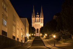 la monte St Maurice (gribsy) Tags: angers night nuit ville lumire ambiance cit
