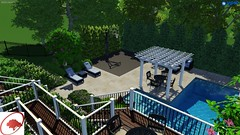 Largo Concept 2 (The Sharper Cut Landscapes) Tags: landscapedesign landscaping hardscape patio deck pool waterfall playground basketball court pergola trellis outdoordining outdoorkitchen outdoorentertainmentarea outdoorlivingarea landscapelighting plantings
