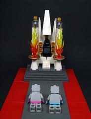Emperor Zzzzrt (Karf Oohlu) Tags: lego moc vignette minifig emperoro throne robot collectibleminifig