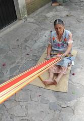 Weaving a Sash Jalieza Oaxaca Mexico (Teyacapan) Tags: weavers mexico oaxacan jalieza gomez backstraploom faja warp
