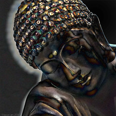 Sweet Dreams (Lemon~art) Tags: texture face statue buddha manipulation