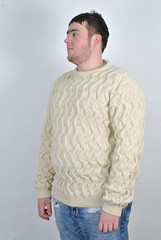 Husbands aran wool sweater (Mytwist) Tags: xpaccessories mens thick 100 british wool aran roped stitch jumper sweatshirt husband qx queen pride style handgestrickt laine fashion bulky jersey pullover