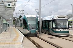 Trams 204 & 227 Toton, Nottingham (Paul Emma) Tags: uk england nottingham toton railway railroad tram 204 227