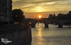 Orange reflection (Lonely Soul Design) Tags: bridge sunset pont neuf saint michel paris light