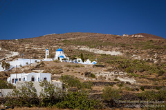 Church on a hill in Santorini, Greece