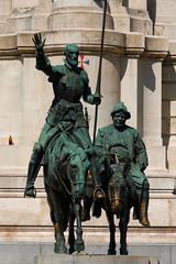 Pomnik Cervantesa (jacekbia) Tags: europa hiszpania espaa spain madryt madrid outdoor architektura architecture summer pomnik rzeba sculpture donkichot cervantes canon 1100d