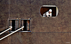 Amarrando (Franco DAlbao) Tags: francodalbao dalbao nikond60 amarrando mooring crucero cruisser barco ship queenmary2 vigo inauguracin inauguration gigante giant amarras mooringropes mar sea