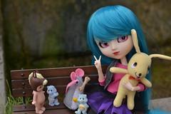Sakura & friends (-gigina-) Tags: sakura doll kirsche muñeca pullip rewigged rechipped obitsu pureneemo nikon d3100 50mm