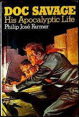"""Doc Savage: His Apocalyptic Life"" by Philip Jose Farmer. Garden City: Doubleday, 1973. 1st Ed. (lhboudreau) Tags: book books pulpfiction docsavage pulp farmer 1973 pulpcover bookart hardcover dustjacket firstedition doubleday pulps philipjosefarmer pulpcovers jacketart hardcovers pulphero pulpart pulpcoverart dustjacketart hisapocalypticlife docsavagehisapocalypticlife"