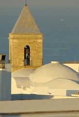 Torre de la iglesia, desde la azotea de la academia