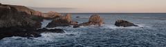Rocks (M1040920 0pv5-2 E-M1 50mm iso200 f8 1_50s) (Mel Stephens) Tags: uk sea panorama seascape landscape coast scotland rocks aberdeenshire bigma widescreen sigma olympus panoramic coastal gps scape stitched 43 omd em1 slains q1 2015 50500mm ptgui m43 fourthirds mirrorless mmf3 microfourthirds 201501 20150104