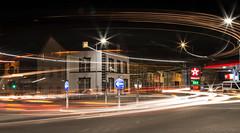 Light trails in Aberystwyth (Explore) (babs pix) Tags: wales night westwales aberystwyth lighttrails ceredigion