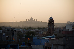 Jodhpur - The blue City (cedmars) Tags: voyage city trip travel blue panorama india rooftop view bleu ville rajasthan guesthouse inde jodhpur mewari