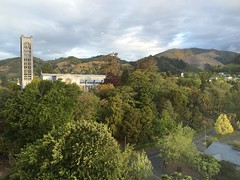 Nelson, NZ - Christ Church Cathedral - view from hotel room!