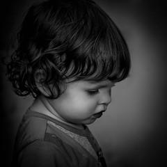 Claire (1mpl) Tags: bw portraits children canon40d niksilverefexpro