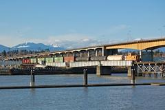 Return Trip (elevation-media) Tags: street bridge vancouver oak pacific south rail railway canadian richmond cp marpole 1241 1239 sw1200