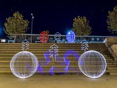 Bon Nadal / Feliz Navidad / Merry Christmas (Sergi Boix) Tags: light lightpainting night darkness olympus aielodemalferit lallumdelanit