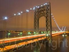 George Washington Bridge over the Hudson River, New York-New Jersey (jag9889) Tags: nyc newyorkcity bridge usa ny newyork river newjersey crossing unitedstates manhattan unitedstatesofamerica nj hudsonriver nightscene gw gwb fortlee waterway gardenstate georgewashingtonbridge washingtonheights 2014 wahi northriver bergencounty k007 zip07024 07024 jag9889 20141220