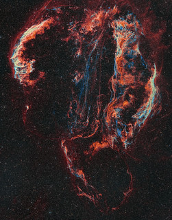 Ha/OIII bi-colour Veil Nebula Mosaic