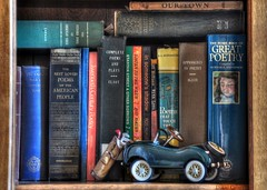 Still Life - Library (zendt66) Tags: life stilllife golf photo still nikon poetry library assignment books theme weekly challenge hdr toycar d90 photomatix zendt66 52weeks2014