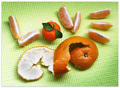 Peeling feeling - 1503 (willfire) Tags: orange art love tangerine word singapore expression feel chinesenewyear valentine romance cny romantic peel greeting kumquat fooddesign willfire