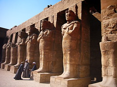 Karnak Temple Luxor Egypt (leewoods106) Tags: africa city trip travel blue vacation holiday men history statue stone religious temple photography photo ancient place desert photos religion egypt culture statues places pharaoh historical awe karnak luxor derelict oldcity inspiring mut amun placeofworship egyptians beautifulplaces khonsu karnaktemple theban pharaohramessesii mustseeplaces ipetisu mostselectofplaces
