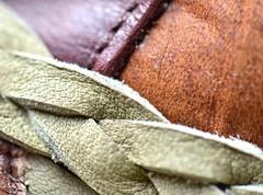 Leather (linda_lou2) Tags: hat leather rust twist odc 365daysincolor macromondays 365d
