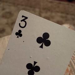 Three of Wands (RETTOCAMME) Tags: nyc found three card playingcard threeofclubs threeofwands