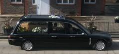 W.A  Truelove Coleman Milnes Jaguar hearse Sutton 25/02/15. (Ledlon89) Tags: london surrey funeral jaguar coleman coffin hearse sutton daimler milne undertaker
