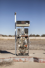 pump you up. (Explored 3/3/15) (stevenbley) Tags: arizona classic abandoned route66 rust desert twin az reststop 66 historic pump urbanexploration arrows americana dust grime gaspump urbanexploring urbex twinarrows