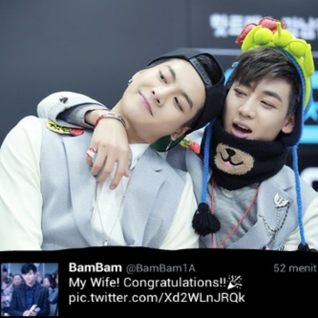 -My Wife- Bambam said to jackson like that. And now still Trending Topic Twitter Indonesia. Maybe JackBam ia real? OMG!! #Bambam #Jackson #GOT7 #MyWife #JackBam #GOT7Couple #Roommate #Roommate2 #SBSRoommate #JYPNation #JYPEntertaiment #JackBamShipper