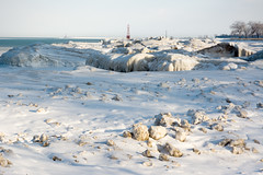 Foster Beach (Andy Marfia) Tags: winter snow chicago ice iso200 frozen f10 lakemichigan edgewater lakefront fosterbeach 1640sec d7100 1685mm