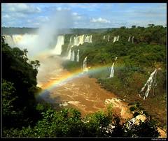 Decorated with rainbow (mark.paradox) Tags: water landscape power falls iguazu paradox iguassu lookgoldaward