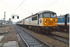56065 Cambridge (British Rail 1980s and 1990s) Tags: br britishrail class56 56065 56 train rail railway station diesel loco locomotive 90s 1990s type5 nineties livery trains locohauled passenger er easternregion liveried