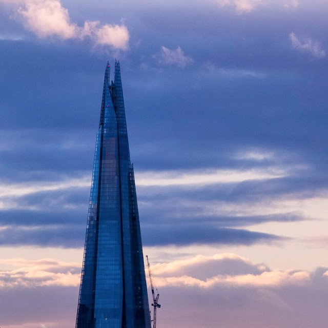 Shard Series 34 : Deep Blue  Its over 4 months since I posted one of these shots but the sky was very pretty this evening. Hope youre all enjoying the weekend.   Taken with my Olympus EPL-1  #london  #londonphoto #gf_uk   #citybestpics #cityofcities #gl