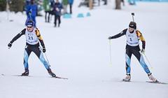 Biathlon2015_02_17 (6) (Don Voaklander) Tags: woman snow man ski male men female race women gun lap target poles skis princegeorge otway 2015canadawintergames voaklander