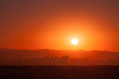 Las Vegas sunrise (julianhj) Tags: las vegas mountains skyline sunrise canon desert filter highrise 70200 hitech casinos f4l canon5dmk2