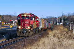McDonald's, the Mobile Pegasus, DQ and the SOO. (shawn_christie1970) Tags: railroad minnesota mobile train unitedstates pegasus mcdonalds line medina canadianpacific soo dairyqueen sag hamel emdsd60 paynesvillesub soo6037 cp491 mp1685