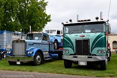 1970 Kenworth W-900 & 1974 Peterbilt 352 (Truck Exposure) Tags: coe cabover kenworth19701979 truck19701979