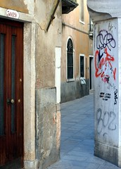 venice (gerben more) Tags: venice italy window alley grafitti doorway veneti