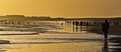 Time Spectra (Sea vs Land) (Ignacio M. Jimnez) Tags: sunset sea people panorama espaa seascape beach atardecer mar spain sand gente huelva playa andalucia arena andalusia puntaumbria espectros