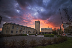sterbottens Museum (AlexanderHorn) Tags: cloud cloudporn sun sunset colors dramatic museum architecture nikon d610 tokina vaasa finland summer warm