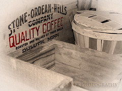 Quality coffee (VFR Photography) Tags: denver denvercounty colorado co forneymuseumoftransportation shipping cartage crate crates basket baskets wood wooden stoneordeanwellscompany qualitycoffee duluth minn mn grain grainy transportation transport historical