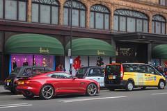 Seen by Harrods (TJHarrington) Tags: jaguar ftype r seenthroughglass harrods knightsbridge youtube londoncars supercarsoflondon