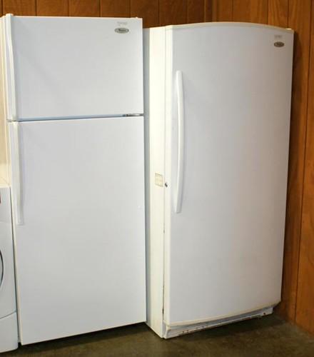 Whirlpool Refrigerator & Upright Freezer ($336.00, $134.40)