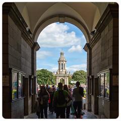 Week 32/52:2016 Edition - Framed - DSC_0067 (John Hickey - fotosbyjohnh) Tags: 2016 august2016 trinitycollege belltower dublin ireland college university architecture arch framed bluesky week322016 52weeksthe2016edition weekstartingfridayaugust52016